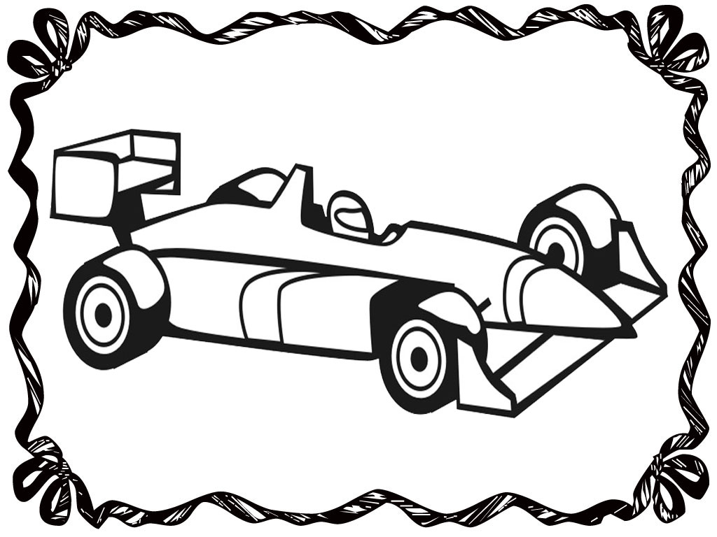 Realistic Car Coloring Pages : Free y race car coloring pages