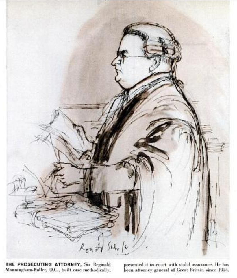 The incredible thing about these drawings is they were all done from  memory. Sketching was not permitted in British courts.