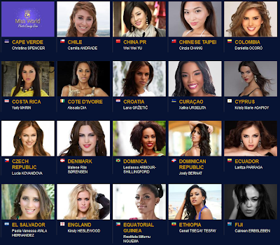 Inilah Foto Kontestan Miss World 2013
