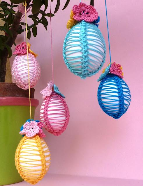 Uncinetto creativo: Uova decorate
