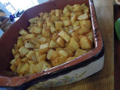 Grafe e Faca Batatas assadas