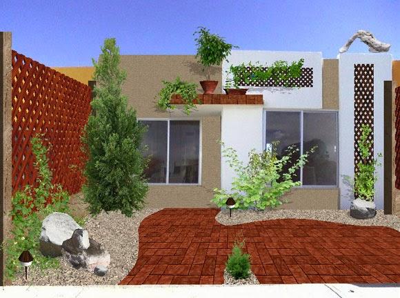 diseño jardin frente casa 3