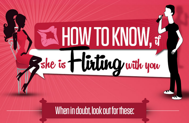 How to know If She Is Flirting With You [infographic]