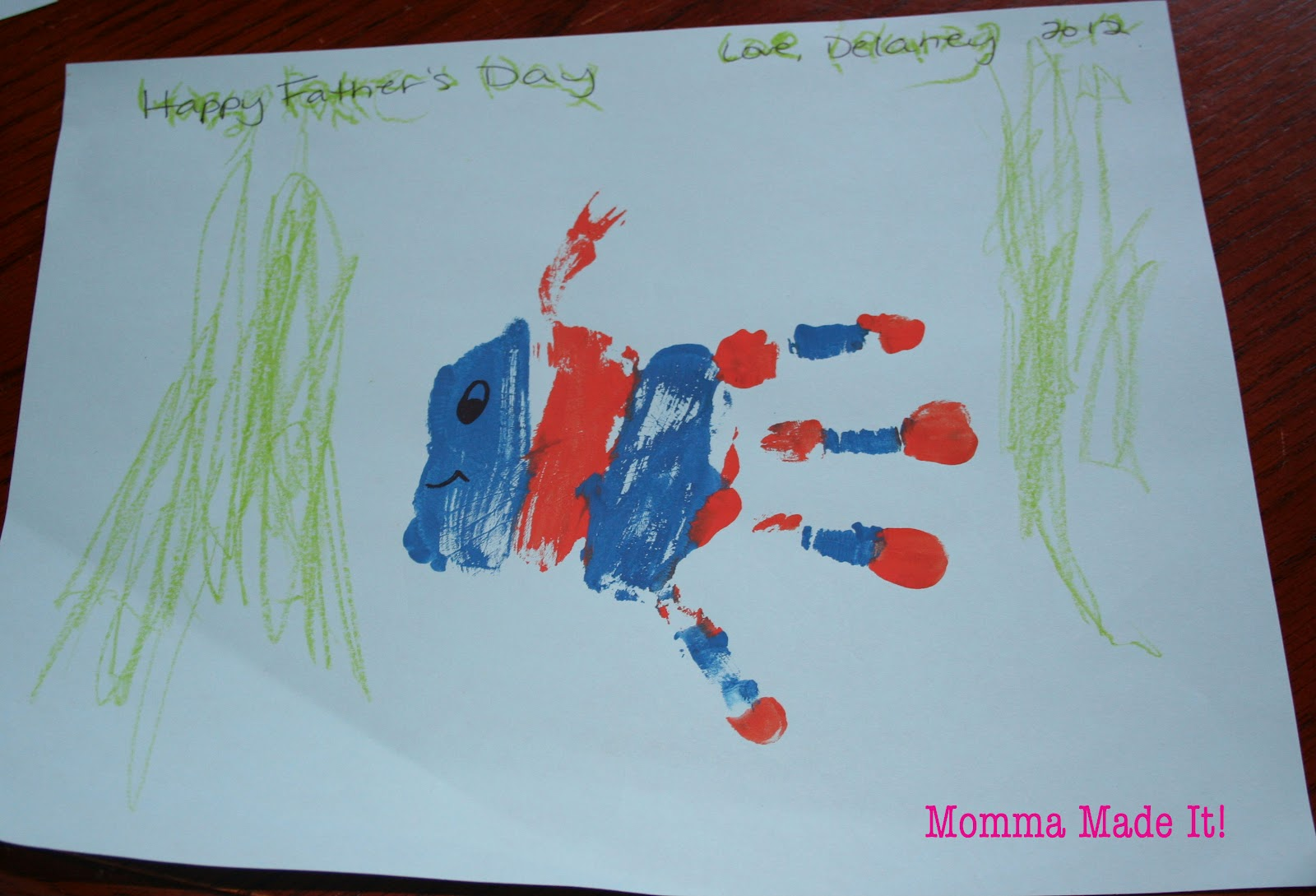 Crafts for one year olds - Arts And Crafts For One Year Olds Kid Craft Father S Day Hand Print Art