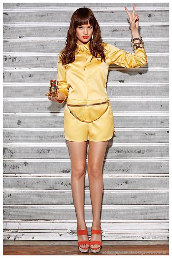 Moda 2015, vestidos, monos, faldas y shorts Frany And Zoey verano 2015.