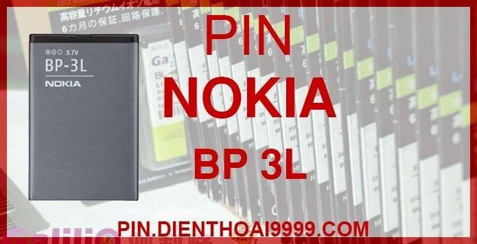 Pin Nokia BP-3L cho điện thoại Nokia 603 Lumia 710 - Pin Nokia BP 3L chính hãng - Giá 160.000 - Bảo hành: 6 tháng  - Pin tương thích với Nokia 603, Lumia 710 Asha  Thông số kĩ thuật: - Pin Nokia 3L được thiết kế kiểu dáng và kích thước y như pin nguyên bản theo máy, Pin tiêu chuẩn, chất lượng như pin theo máy. - Dung lượng: 1300 mah - Điện thế: 3.7V - Công nghệ: Pin Li-ion Battery  Mô tả sản phẩm: - Pin Galilio nhờ nghiên cứu và phát triển công nghệ lithium nên đã đạt được pin dung lượng cao nhất cho phép (từ 1,5- 2 lần) nhưng vẫn đảm bảo được chất lượng cao, đã vượt qua nhiều tiêu chuẩn chất lượng như ISO 9001, ISO 1400I, CERTIFICATED, hãng cũng ứng dụng Công Nghệ an toàn mà những hãng pin khác không có được: Controller IC, Control swithches, Temperature Fuse.. - Thiết kế kiểu dáng và kích thước y như pin nguyên bản theo máy, thuận tiện và dễ dàng thao tác, pin dung lượng cao cung cấp đủ nguồn điện cho máy sử dụng được trong thời gian dài, có thể mang đi bất cứ đâu để phòng khi pin của máy bạn hết mà không có điều kiện để sạc. - Cho phép bạn giữ các cuộc nói chuyện và bảo đảm cho bạn không bỏ lỡ các cuộc gọi điện thoại quan trọng - Pin sạc bằng cách gắn vào điện thoại và sạc như pin gốc - Sản phẩm đạt tiêu chuẩn tuyệt đối về an toàn cháy nổ - Bảo hành đổi pin mới trong 6 tháng.  GIAO HÀNG VÀ BẢO HÀNH TẬN NHÀ Quý khách có nhu cầu mua pin,  hãy liên hệ với chúng tôi: Hotline: 0904.691.851 Website: http://pin.dienthoai9999.com  - Hướng dẫn sử dụng, bảo quản pin: http://pin.dienthoai9999.com/p/huong-dan-su-dung-pin - Quy định bảo hành: http://pin.dienthoai9999.com/p/quy-dinh-bao-hanh-pin - Khách hàng góp ý: http://pin.dienthoai9999.com/p/khach-hang-gop-y   Xem thêm pin cùng loại:  - Pin nokia BP - 4L - Pin nokia BL- 4U - Pin nokia BL-5C  Một số điện thoại dùng được pin dung lượng cao Nokia 3L   Nokia 603 Màn hình 3.5inc của Nokia 603 có độ phân giải nHD 360x640pixel được phủ một lớp kính chịu cường lực Gorilla Glass chống xước và tích hợp công nghệ ClearBack Display ch