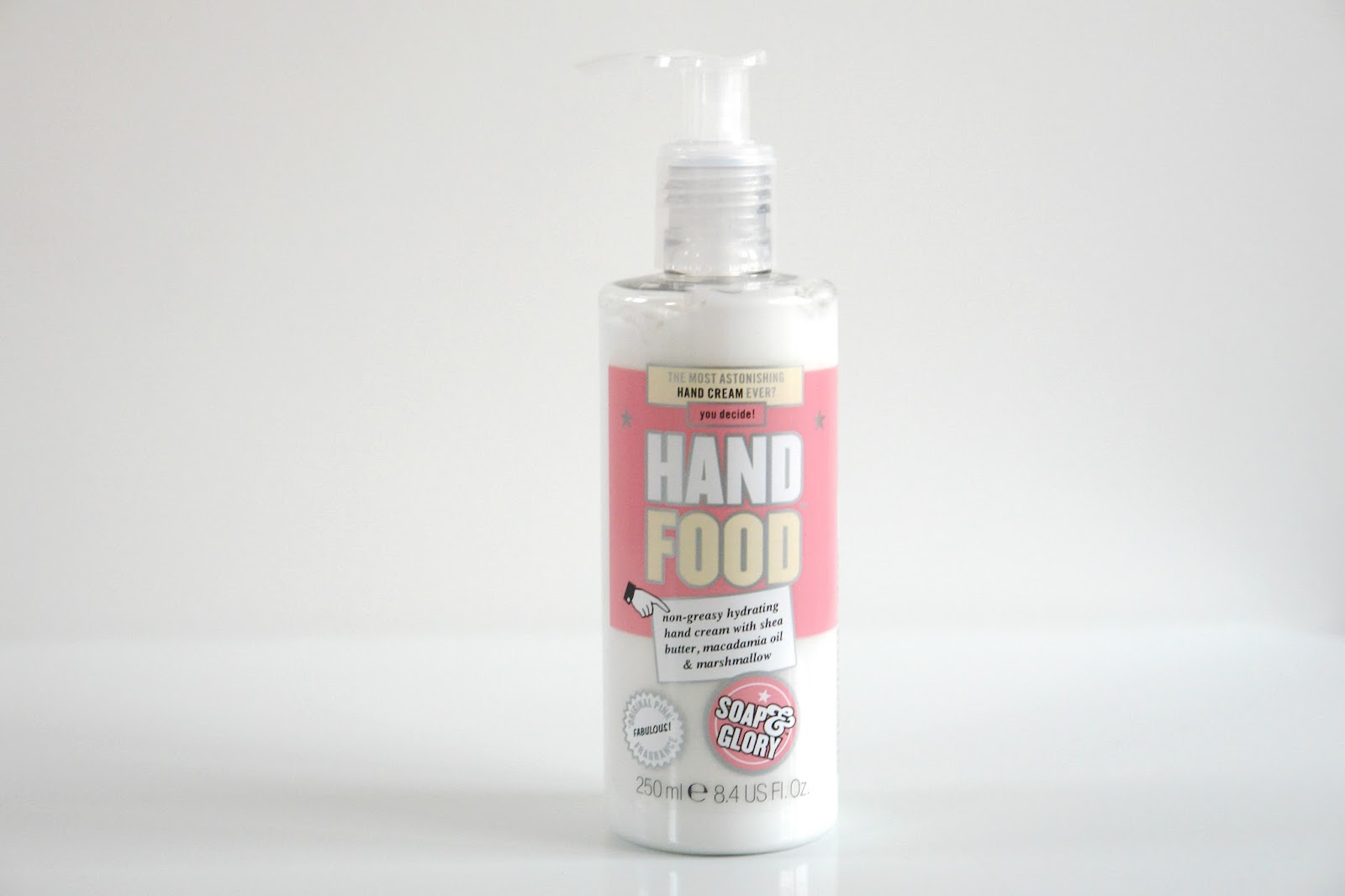 Soap & Glory Hand Food Hand Cream Pump review