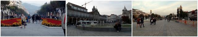 Braga Portugal Avenida Liberdade Avenida Central Praça Republica