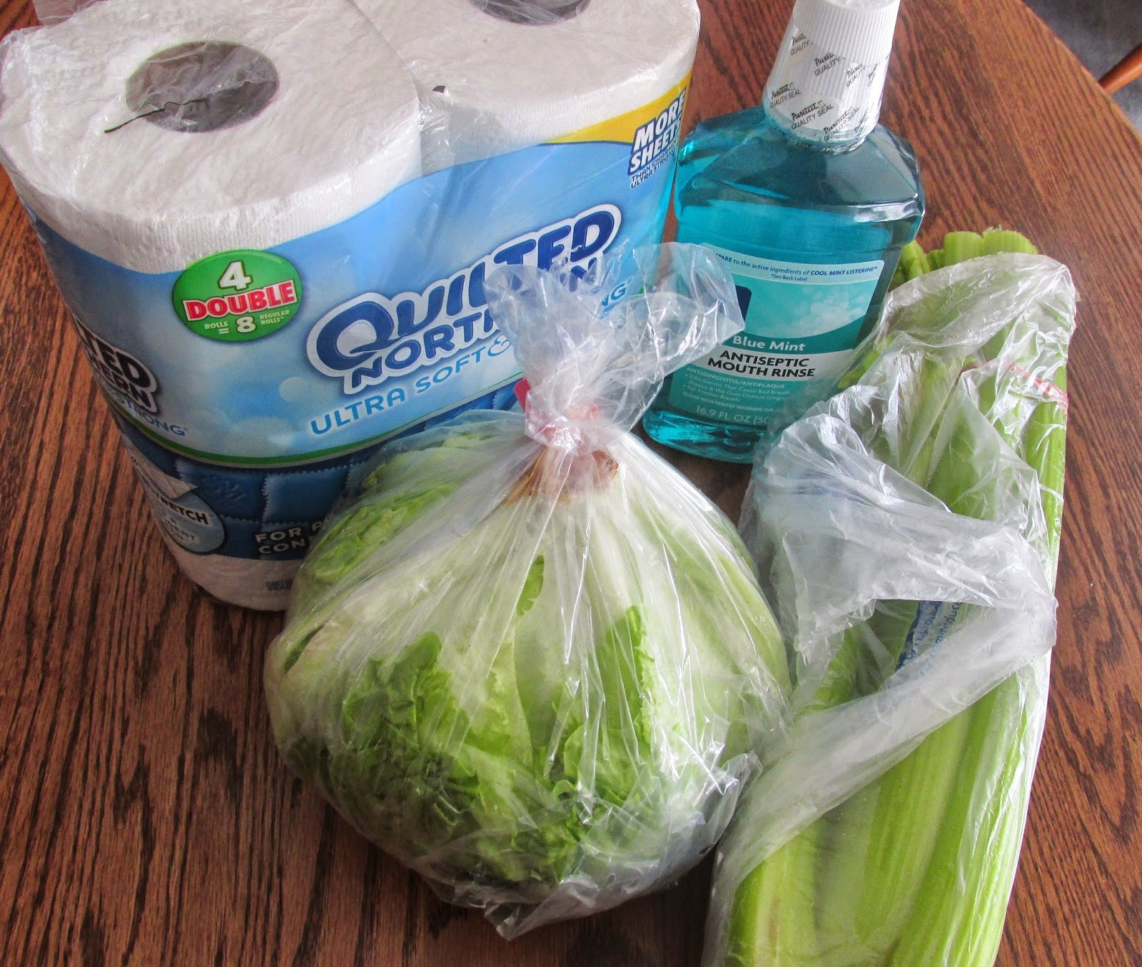 Picture of groceries from Kroger