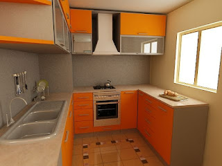 desain kitchen set model U terbaru