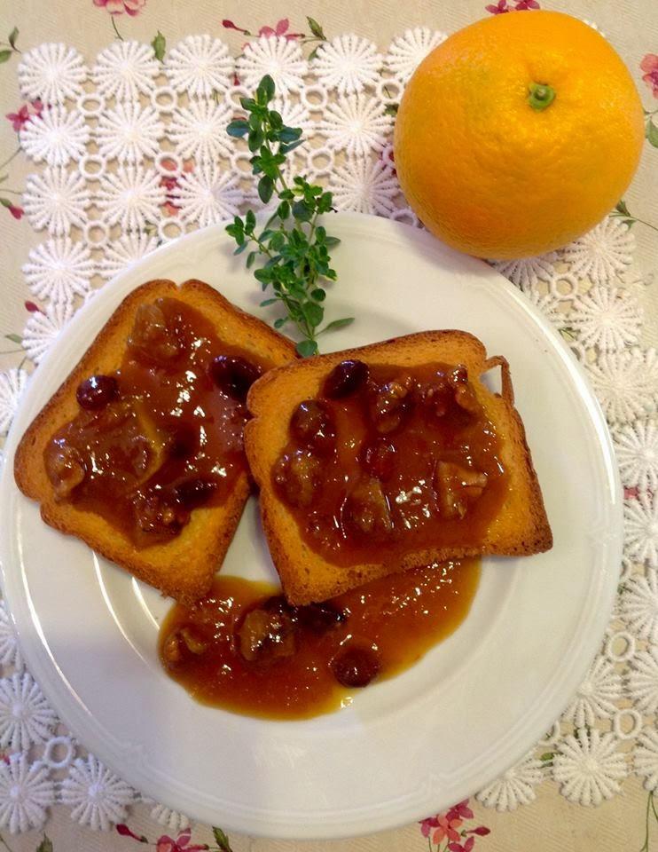 confettura di arance....uvetta e noci