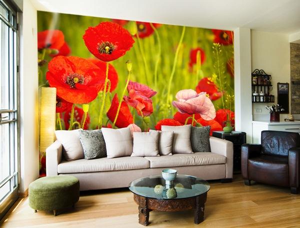 Papel pintado fotomurales florales - Fotomurales pared ...