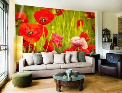 Papel pintado fotomurales florales - Catalogo de papel pintado para paredes ...