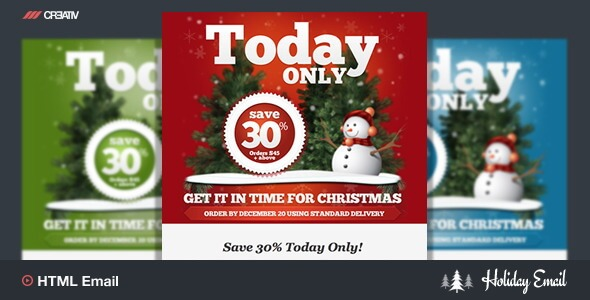 Holiday Marketing Responsive Email Template