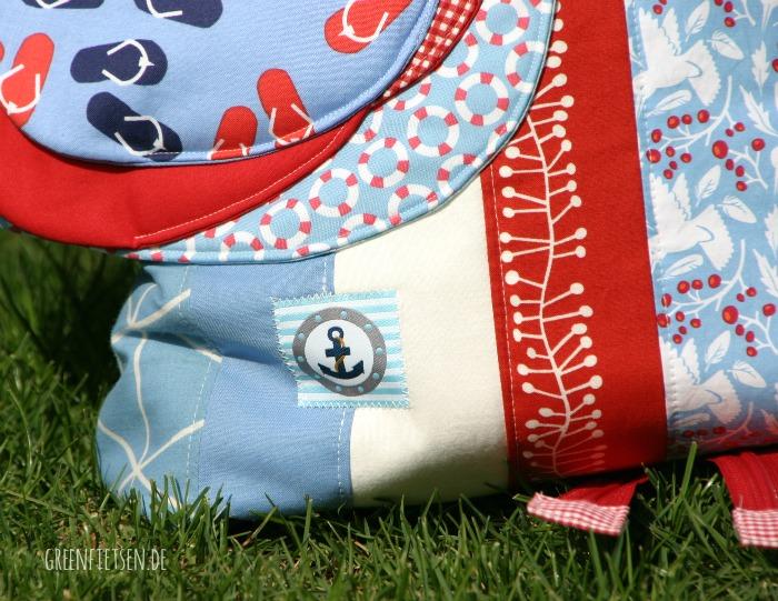 Die Tasche Hen(n)riette mit Seepferdchen-Abzeichen