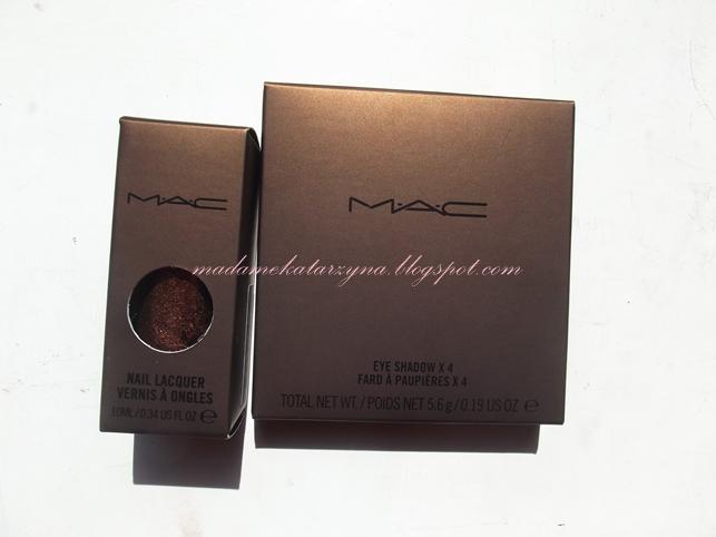 MAC Temperature Rising - paleta cieni i lakier dopaznokci