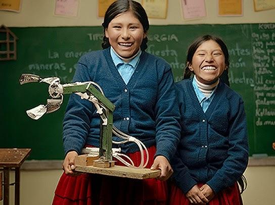 niñas-bolivianas-inventan-brazo-hidáulico
