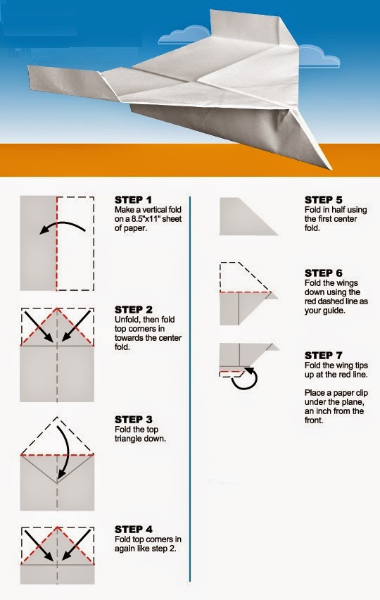 Paper Airplane Instructions Easy 3d Origami For Kids