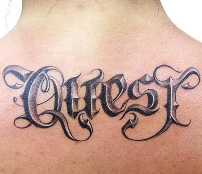 Tattoos For Girls: Tattoos For Men On Back Writing
