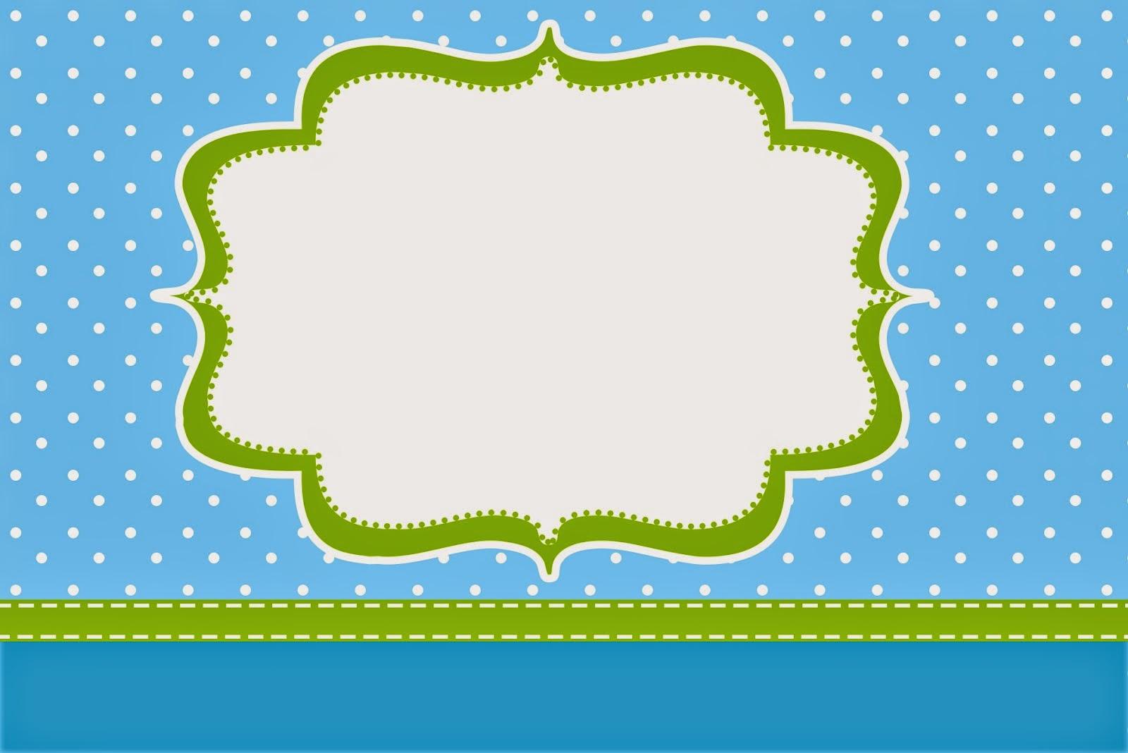 Baños Color Verde Limon:Azul y Verde Limón: Invitaciones y Cajas para Imprimir Gratis