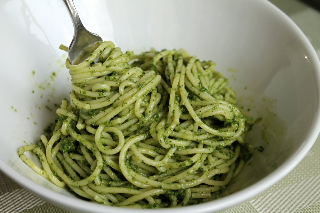 Pasta recipe with parsley