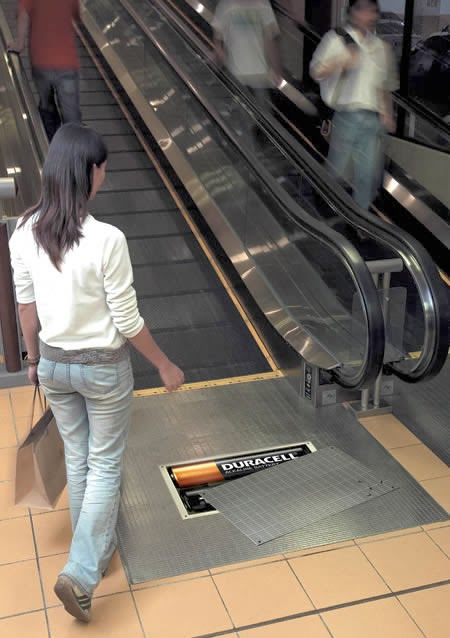 Duracell creative Ads idea on escalators