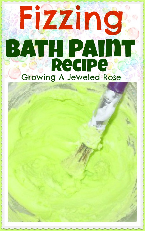 Fizzing Bath Paint recipe