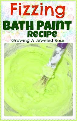 Fizzing Bath Paint recipe