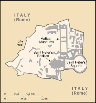 Mappa della Città del Vaticano