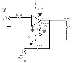 Audio Power Amplifier LM3886