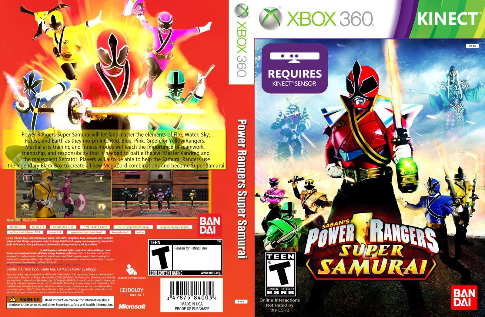 Power Rangers Super Samurai para Kinect / XBOX 360
