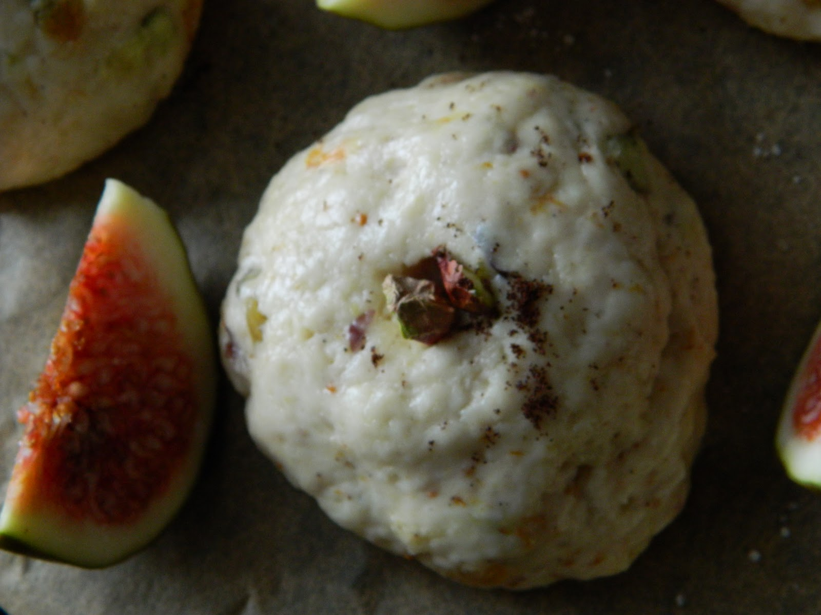 Lemon Love Notes: Fig Scones with Labneh & Raspberry Jam