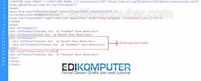 Cara membuat Template wordpress dengan Dreamweaver Bagian 3 Mengatur Layout