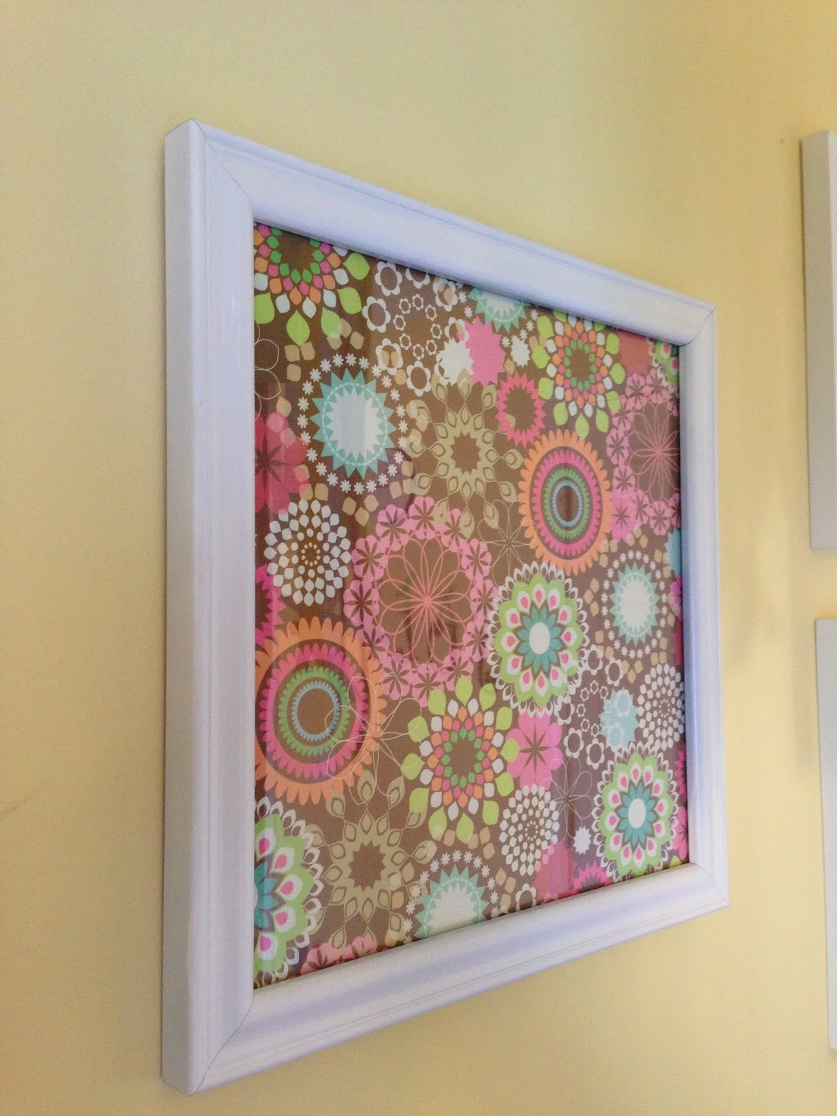 Scrapbook paper wall art - My So Called Mommy Life