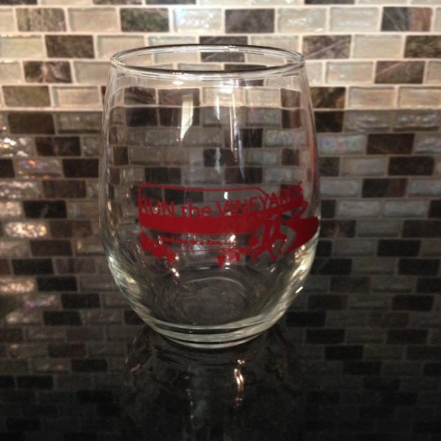 Run the Vineyards 5k tumbler glass