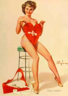 Elvgren Valentine's Day pinup girl