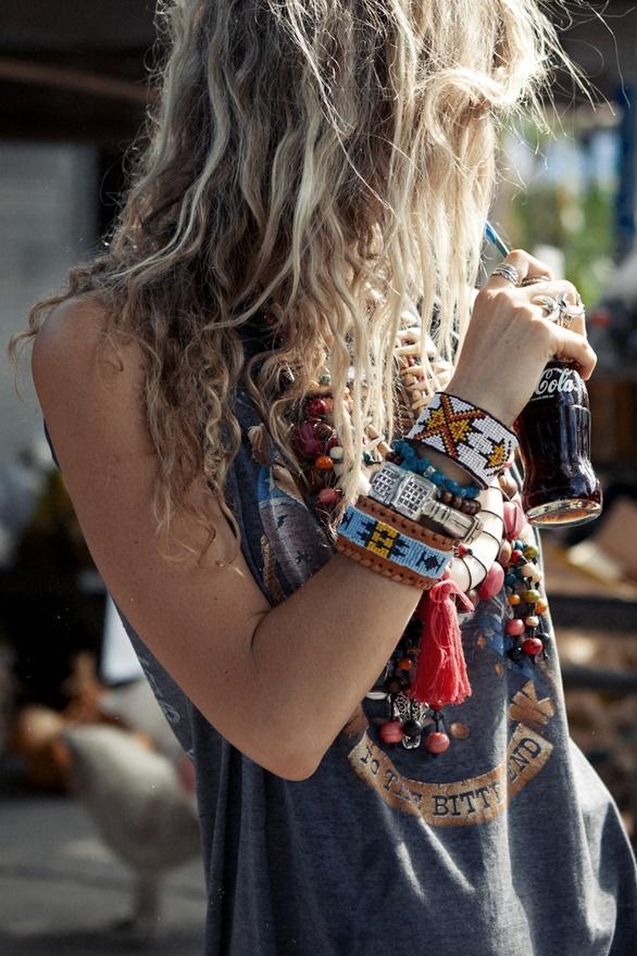Bracelet perles indiens