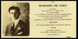 CAMERTATA MARIANO DE CARO UCCISO DALLA MAFIA NEL 1921