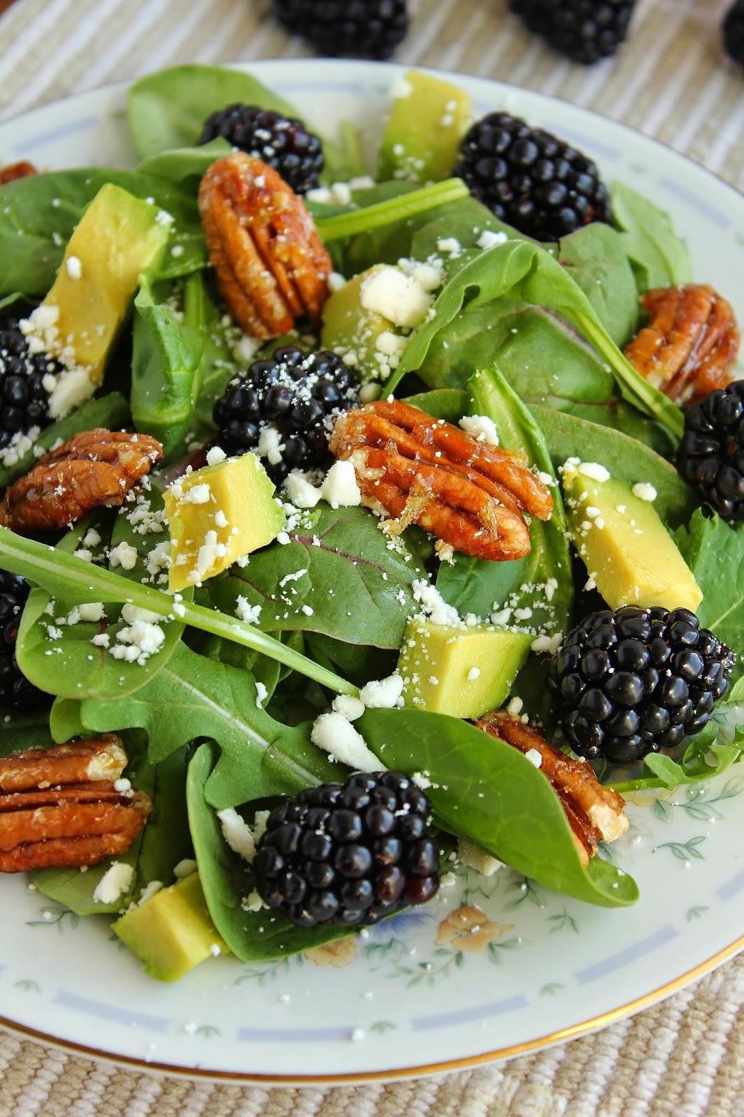 Tart Green Salad With Avocado Dressing