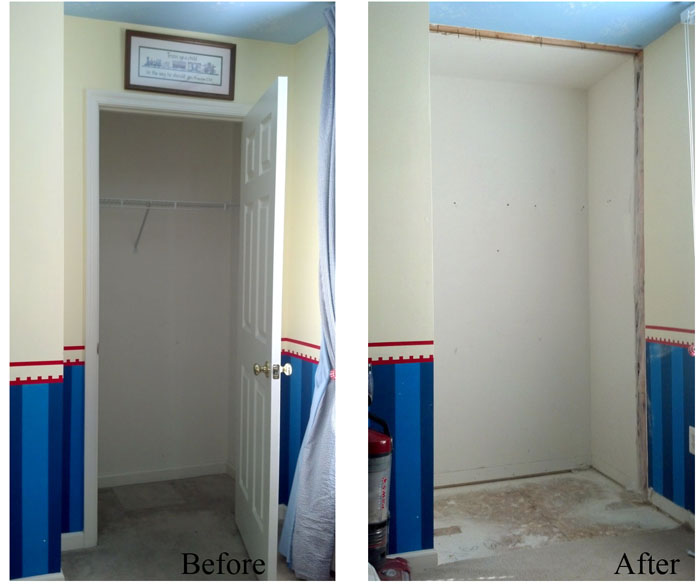 Removing Small Interior Wall With Door Boy S Room Reno