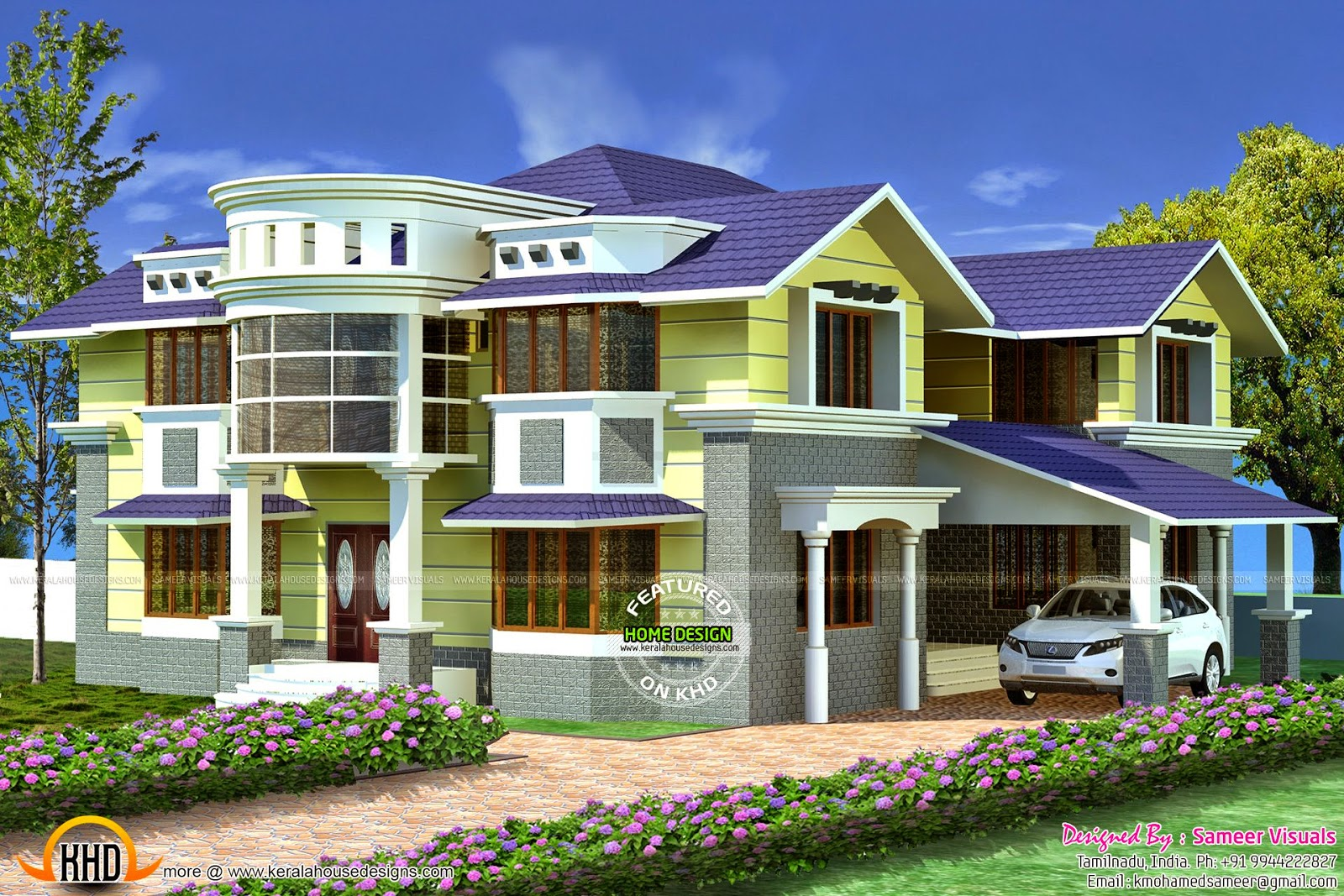 3710 sq ft tamilnadu house kerala home design and floor for Home designs in tamilnadu