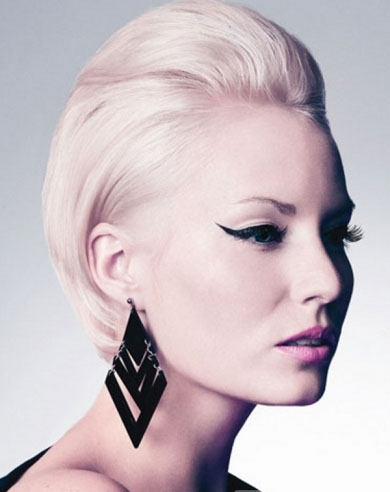 Glam Slicked Back Hair Style 2013