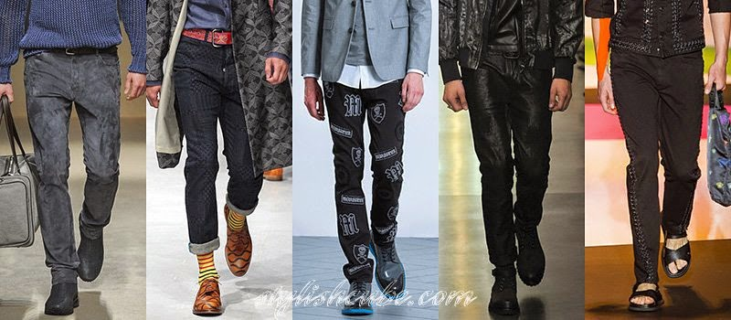 Spring 2014 Men's Jeans Fashion Trends