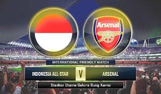 Prediksi Skor Hasil Pertandingan Indonesia vs Arsenal 14 Juli 2013