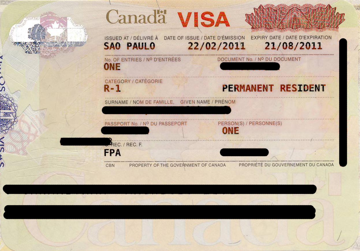 how to travel to us from canada permanent resident