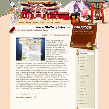 Be Ready for Japan template blog from wordpress. travel blog template. template blogger travel for blog