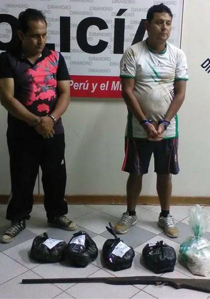 Intervienen en el Bajo Huallaga a dos personas con doce kilos de PBC