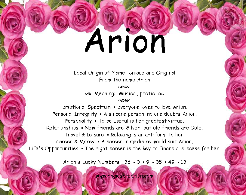 The meaning of the name  - Arion