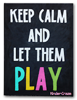 Keep Calm and Let them Play painted canvas sign