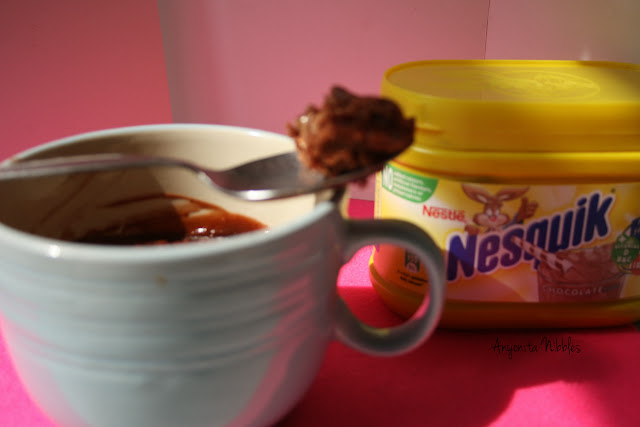 2 Minute Nesquick Microave Brownies in a Mug